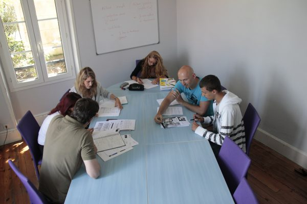 French class in Biarritz