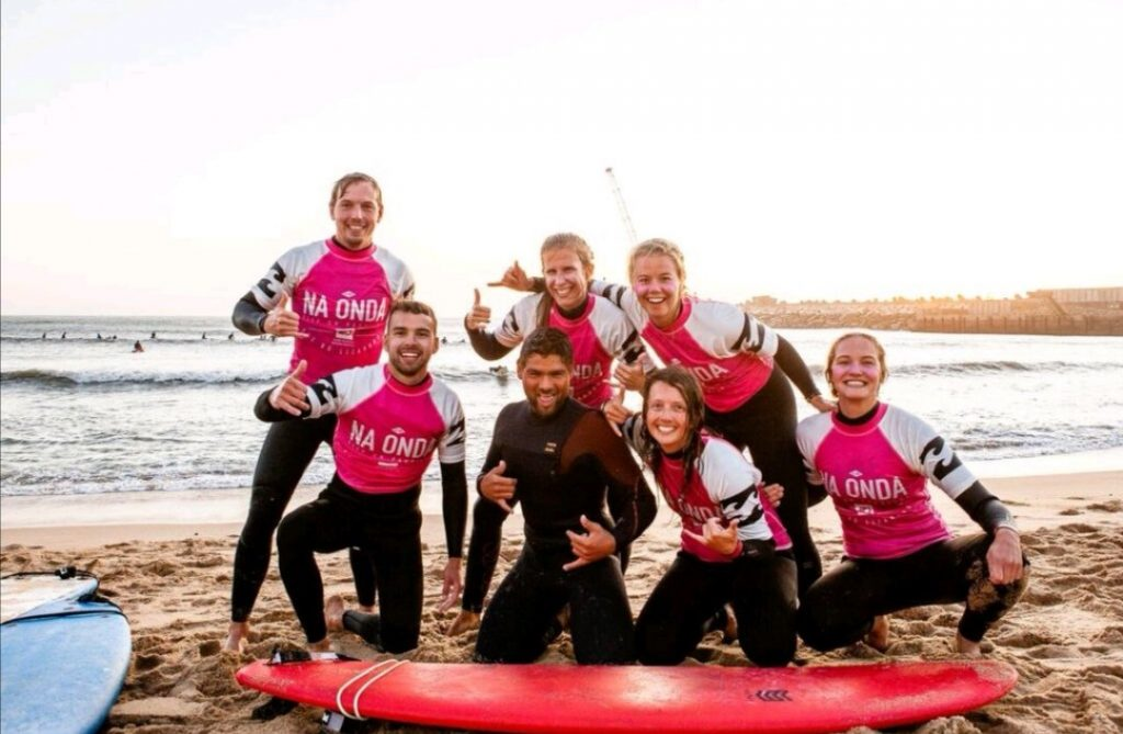 Surfin in Ericeira Lapoint Group Lynn