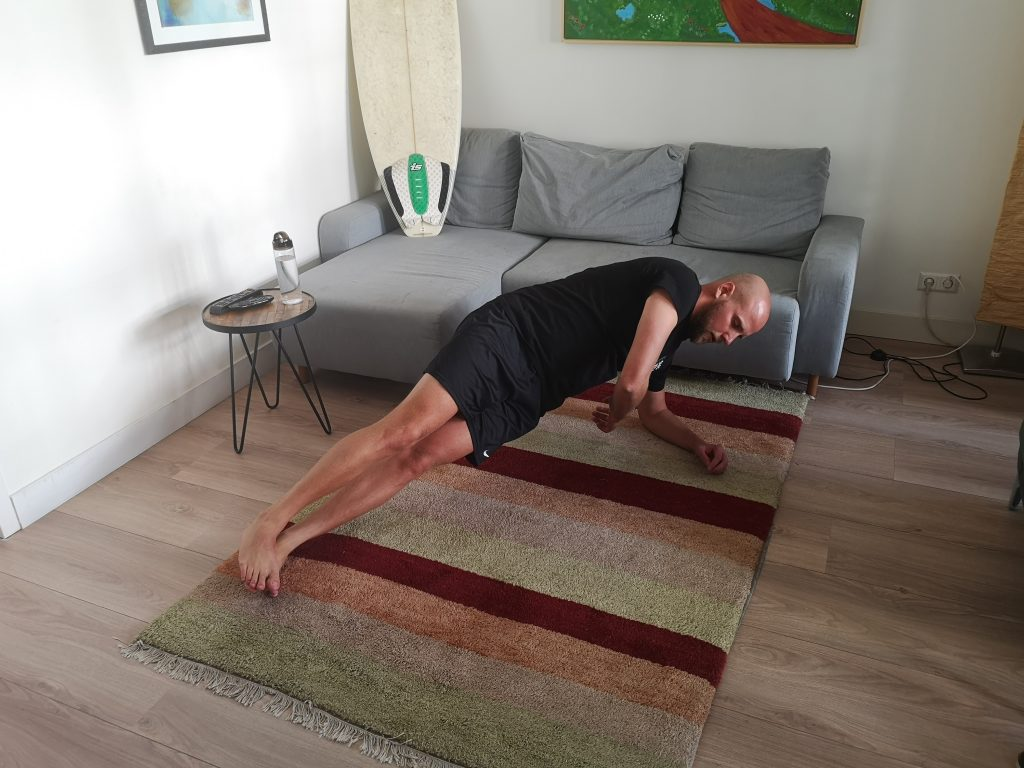 SurfaWhile Fitness Side Plank down